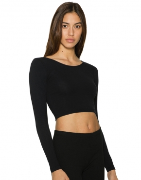 Women's Jersey LS Crop Top