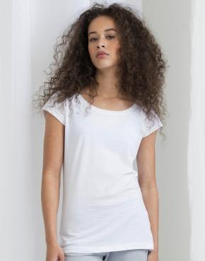 Dámske organické tričko s U-výstrihom
