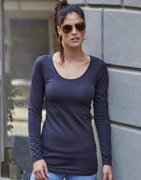 Ladies Stretch LS Tee Extra Lang