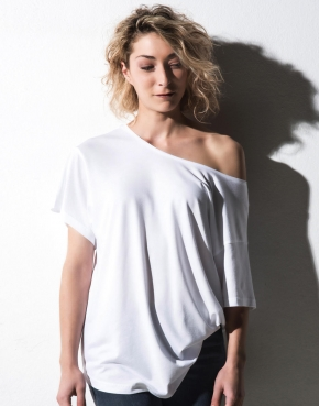 Kate Viscose-Cotton Fashion Boxy T-Shirt