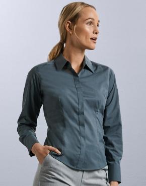 Ladies' LS Fitted Poplin Shirt