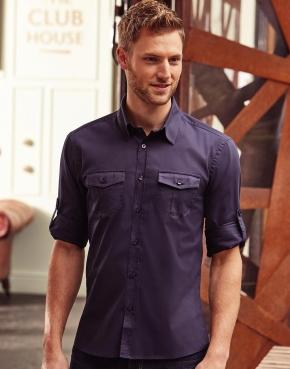 Men's Roll Sleeve Shirt LS