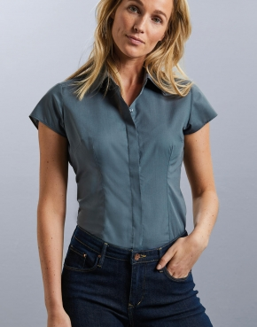 Ladies' Fitted Poplin Shirt