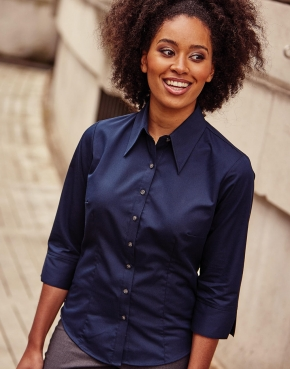 Tencel® Fitted Bluse 3/4-Arm