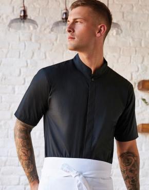 Tailored Fit Mandarin Collar Shirt SSL