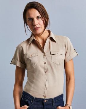 Ladies' Roll Sleeve Shirt