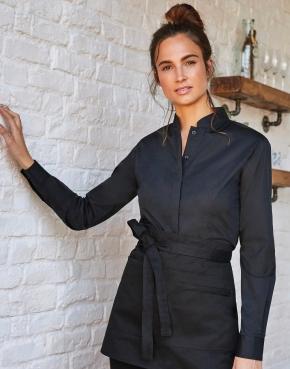 Women's Tailored Fit Mandarin Collar Shirt