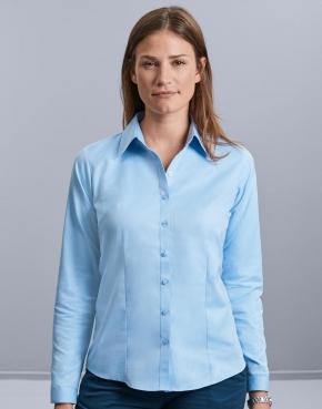 Ladies' LS Herringbone Shirt