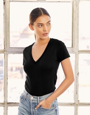 Women's Deep V-Neck Jersey T-Shirt